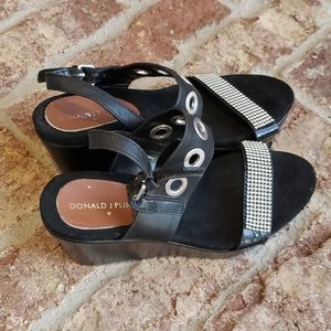 Black gothic Chick wedges sz 6